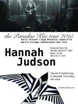 Hannah Judson last date of the Paradise Kite tour 2015.